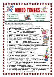 Past Present Future Tenses Worksheets Worksheets for all ...