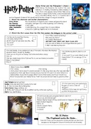 English Worksheets: Harry Potter and the Philosopher�s Stone