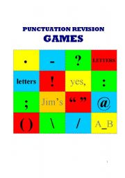 English Worksheet: Punctuation games