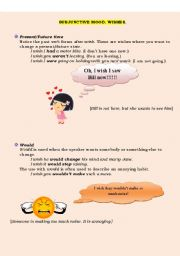 English Worksheets: Subjunctive mood. Wishes