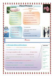 English Worksheets: Fixed phrases