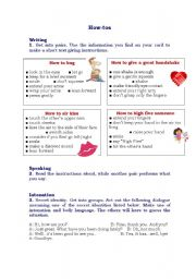 Body language: Giving instructions role-play and Intonation activities