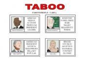 TABOO GAME: Famous People