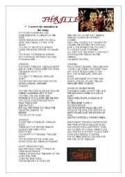 THRILLER  SONG 3-05-09