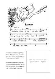 Australian Songs 1 - The Kookaburra Song - ESL worksheet ...