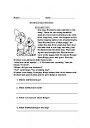 English Worksheets: Richard�s dog