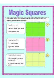 magic squares esl worksheet by baiba. Black Bedroom Furniture Sets. Home Design Ideas