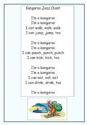 English Worksheets: Kangaroo Jazz Chant