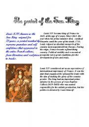 English Worksheets: Louis XIV - 1st part