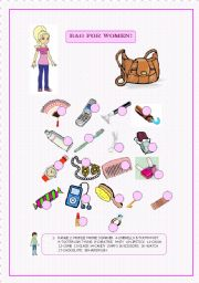 English Worksheets: BAG FOR WOMEN