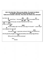 English Worksheets: Letter with mistakes