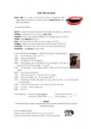 English Worksheet: Small Talk and Gossip