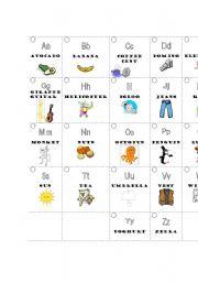English Worksheets: ABC cards