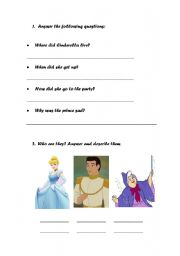 Reading worksheets > Tales and stories > Cinderella