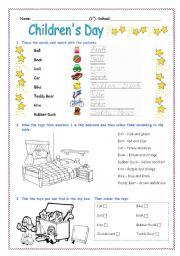 Children´s Day Activity Worksheet