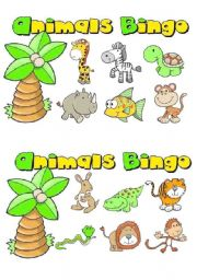 English Worksheet: animals bingo