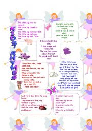 English Worksheet: CUTE SHORT POEMS