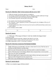 english worksheets history test causes for ww2. Black Bedroom Furniture Sets. Home Design Ideas