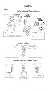 English Worksheet: The Beauty and The Beast Worksheet