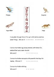 English Worksheets: Australian animals
