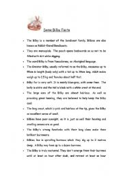 English Worksheets: Australian animals part 2
