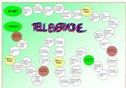 English Worksheet: Tell Everyone icebreaker game