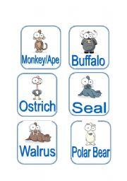 English Worksheets: Animals (2/3)
