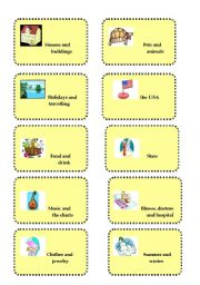 English Worksheet: ** Vocabulary revision and brainstorming game # 1**
