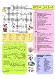 English Worksheet: Music vocabulary (basic) - a local band