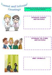 English Worksheets: FORMAL AND INFORMAL GREETINGS