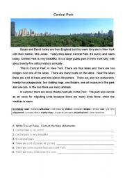 Central Park - test - 5th year
