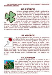 Read about the patron saints of England, Wales, Scotland and Ireland.