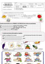 English Worksheets: text 6 th grade