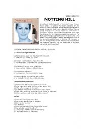 English Worksheets: Notting Hill - the movie