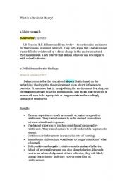 English Worksheets: Behaviourism