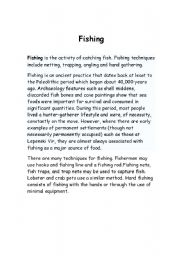 English Worksheets: fishing