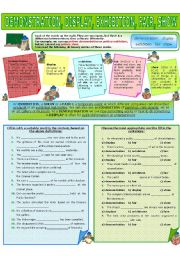 English Worksheets: COLLOCATION 27 - DEMONSTRATION, DISPLAY, EXHIBITION, FAIR, SHOW