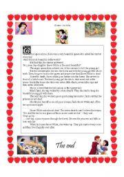 English worksheets: Snow White