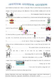 English Worksheet: AT THE FUN PARK
