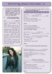 English Worksheet: Alanis Morissette - Ironic