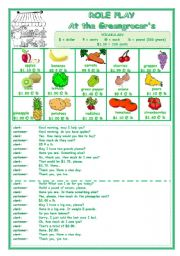 English Worksheet: ROLE PLAY  -  AT THE GREENGROCER�S