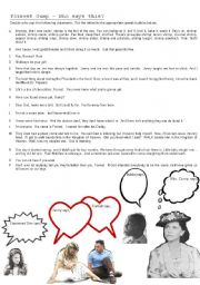 English Worksheet: Forrest Gump - Who says this?
