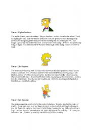 English Worksheet: Simpson�s murder mystery role play