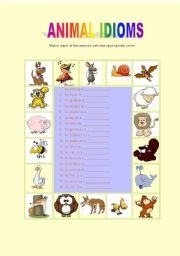 English Worksheets: Animal Similes