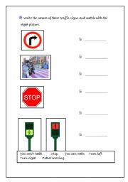 English Worksheets: traffic signals