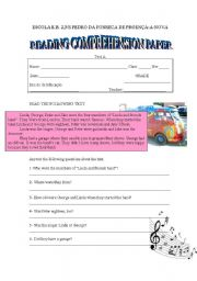 English Worksheets: Reading comprehension paper