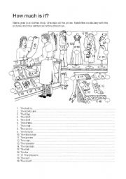 English Worksheet: HOW MUCH IS IT