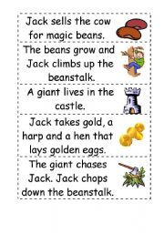 Jack and the beanstalk story word order