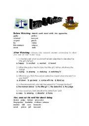 English Worksheets: Law & Order Episode