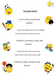 English Worksheets: sport chant